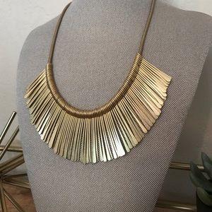 Stella & Dot Gold Essential Fringe Necklace